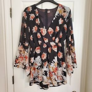 Other - Floral Chiffon Romper